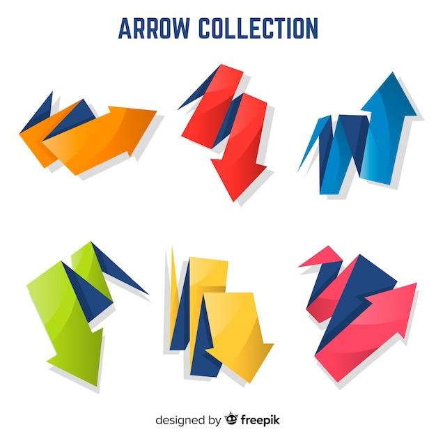 Colección de flechas vector gratuito