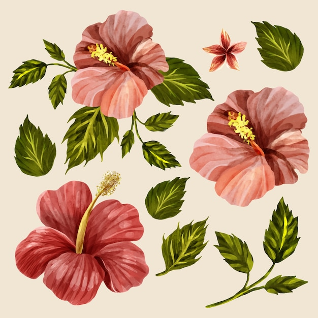 Estilo Hawaiano Excellent Fondo De Flores Y Hojas En Estilo