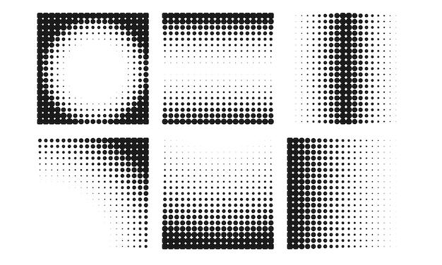 Colección de fondo abstracto de semitonos en diferentes estilos vector gratuito