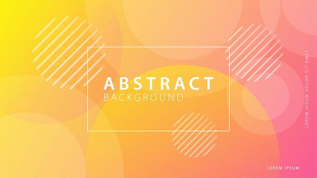 Colección de fondo de formas geométricas gradiente Vector Premium