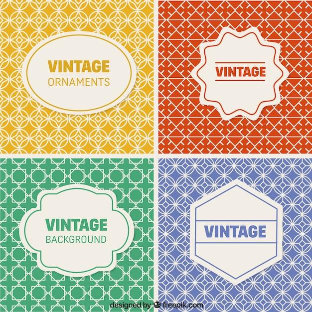 Colección de fondos vintage vector gratuito