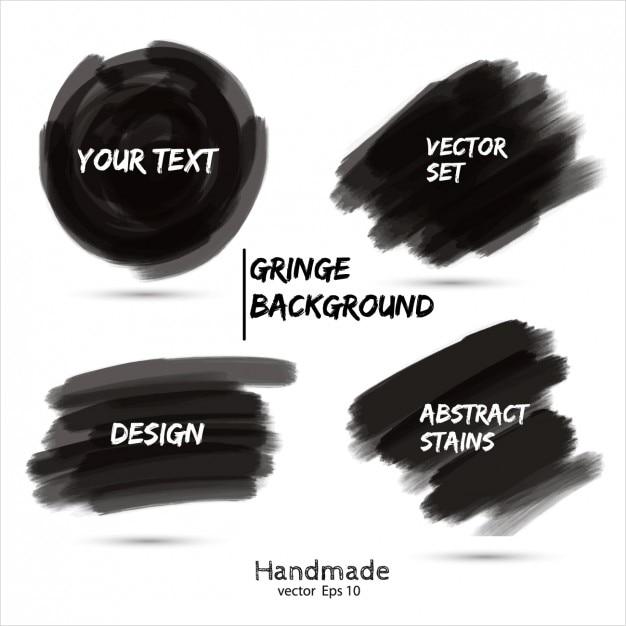 Colección garabato de marcador negro vector gratuito