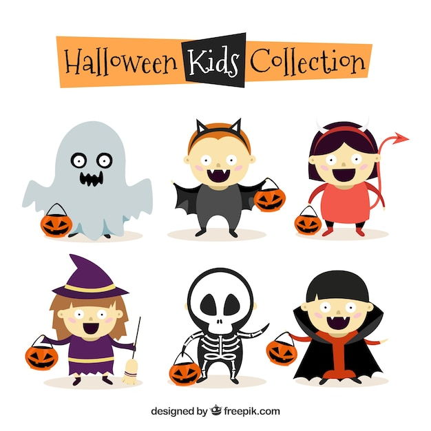 Colección de halloween para niños | Descargar Vectores gratis