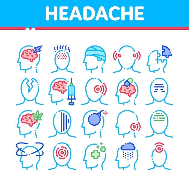 Siente dolor de cabeza enfermo y cansado