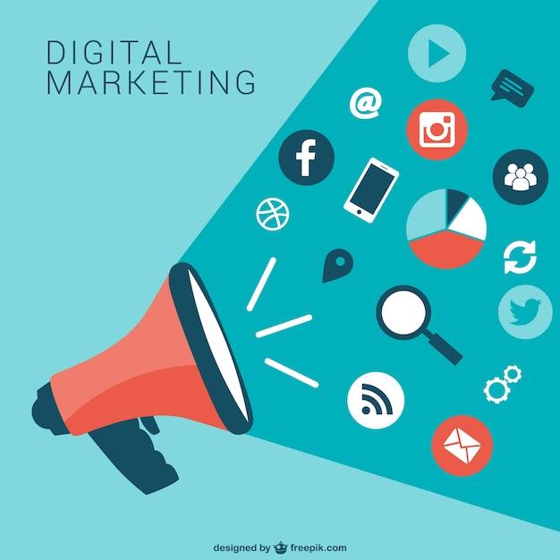 Colección de iconos de marketing digital | Vector Gratis