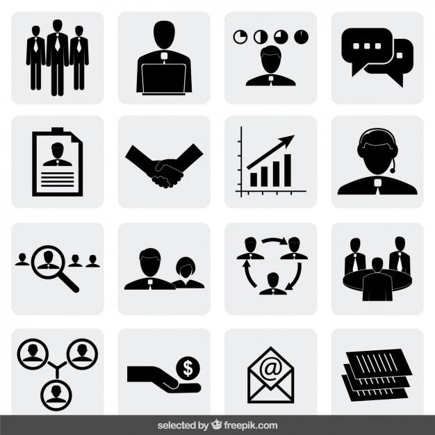 Colección de iconos de negocio vector gratuito