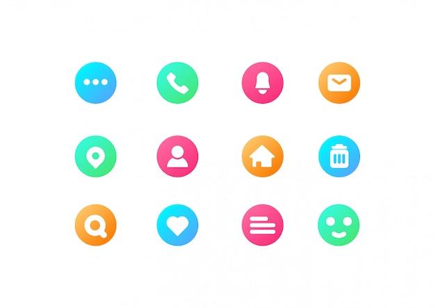 Colección de iconos simple Vector Premium