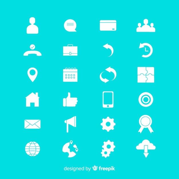 Colección de iconos para tarjetas de visita vector gratuito