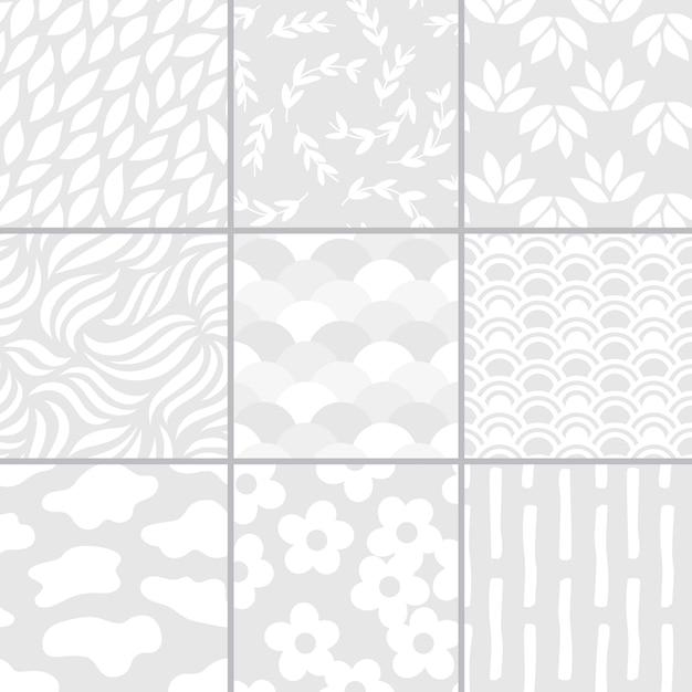 Colección de ilustración de vectores patrón simple vector gratuito