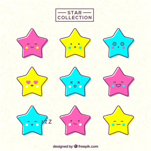 Colección Impresionante De Estrellas Con Caras Bonitas Descargar