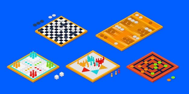 Colección de juegos de mesa vector gratuito