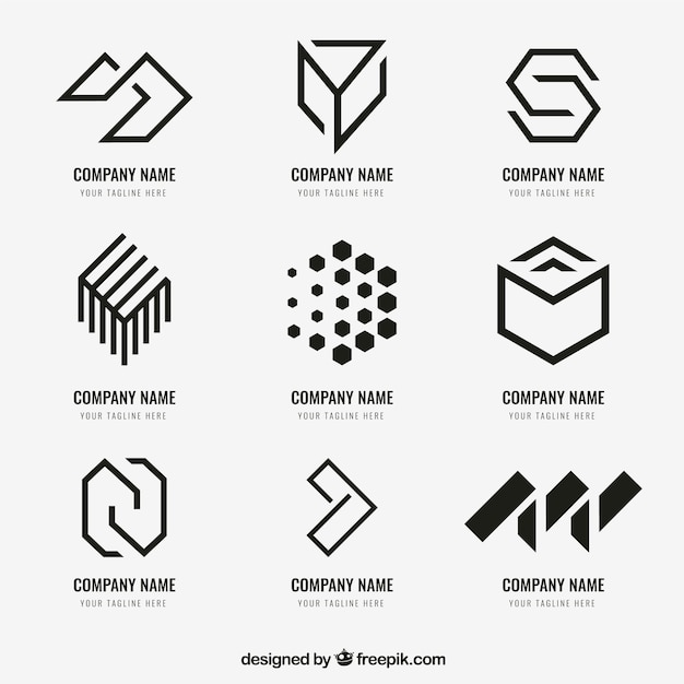 Colección de logo geométrico vector gratuito