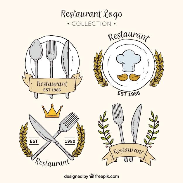 Colección de logo de restaurante Vector Premium