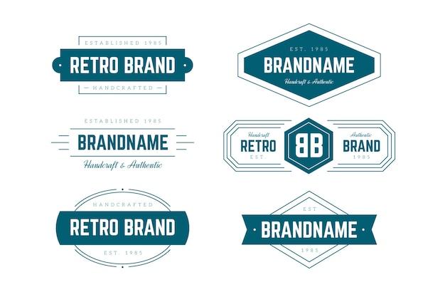 Colección de logo retro Vector Premium