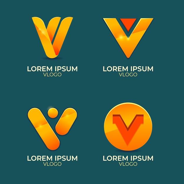 Colección de logo v vector gratuito
