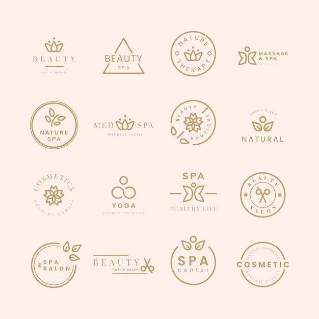 Colección de logos de belleza y spa. vector gratuito