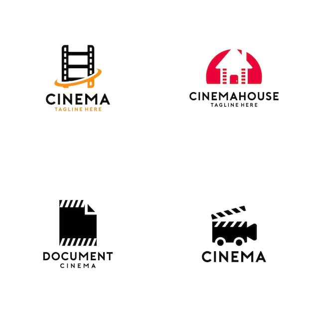 Colección de logos de cine Vector Premium