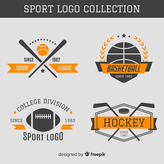 Colección logos deportivos vector gratuito
