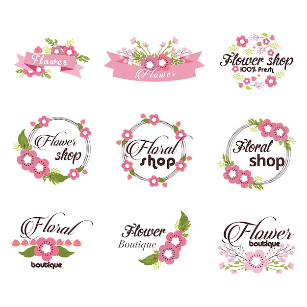 Colección de logos de flores  30a1f8a7824f