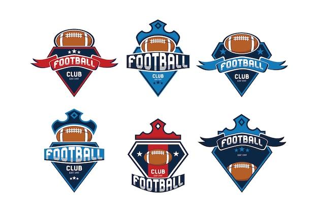 Colección de logos de fútbol Vector Premium