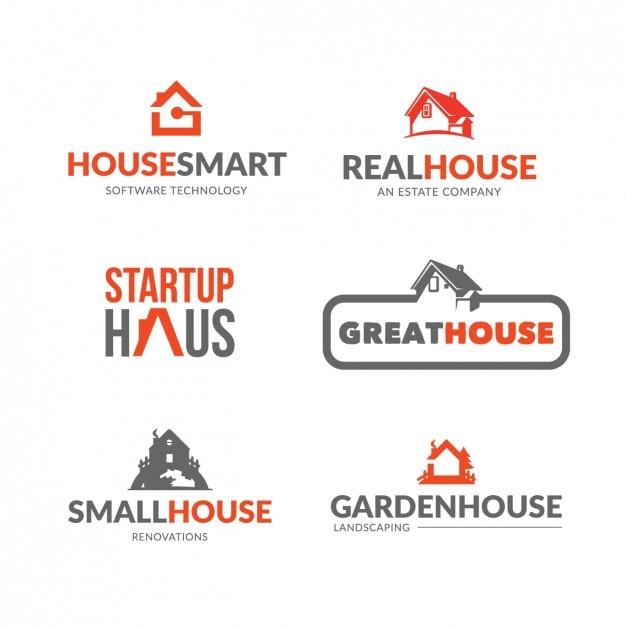 Colección de logos de inmoviliarias vector gratuito