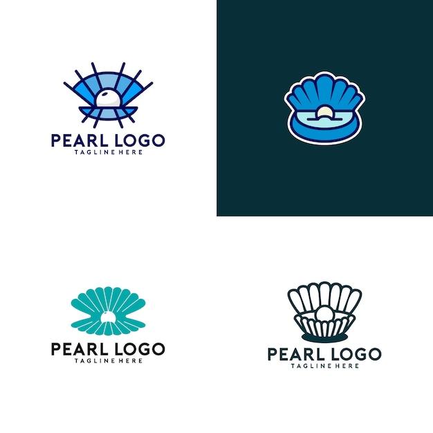 Colección de logos de perlas Vector Premium