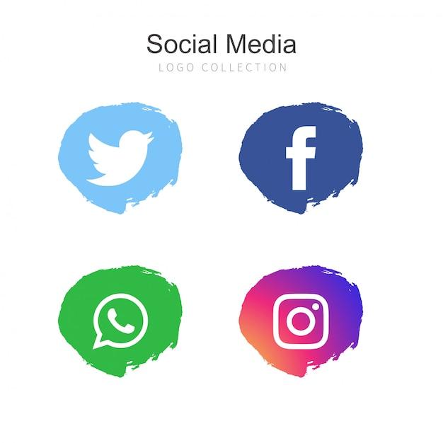1999ef8966f56 Colección de logos de redes sociales populares