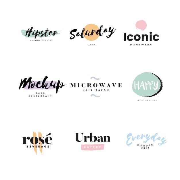 Colección de logos y vector de branding. vector gratuito