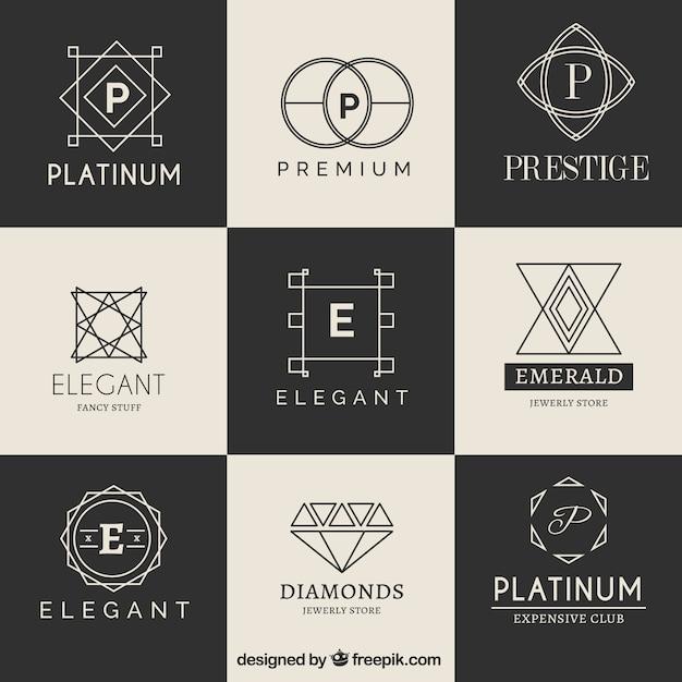 Colección logotipo de lujo vector gratuito