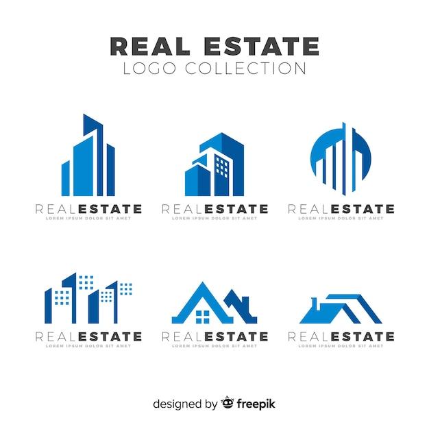 Colección de logotipos de bienes raíces vector gratuito