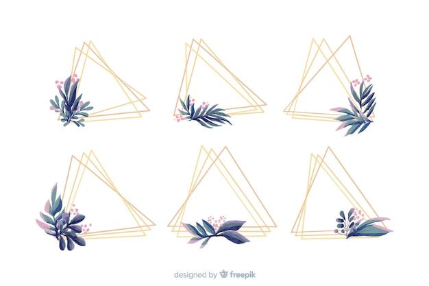 Colección de logotipos de cuadros de boda en acuarela vector gratuito