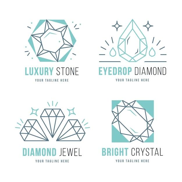 Colección de logotipos de diamantes vector gratuito