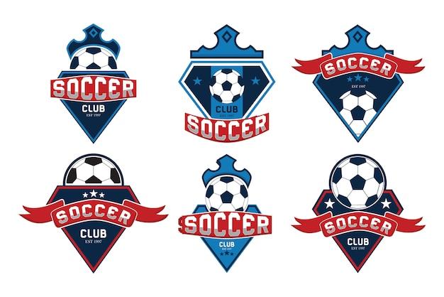 Colección de logotipos de fútbol Vector Premium