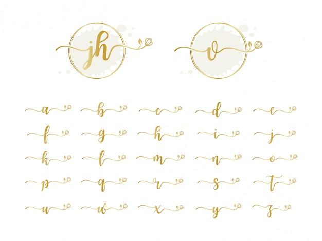 Colección de logotipos iniciales femeninos Vector Premium