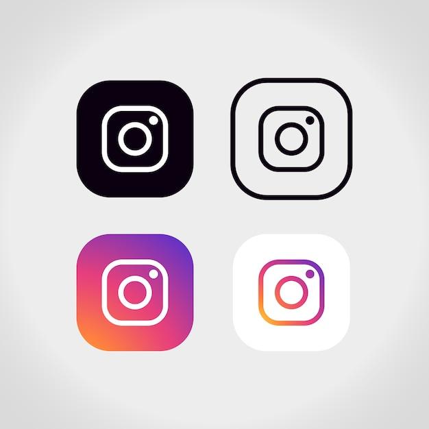 Colección de logotipos de instagram vector gratuito