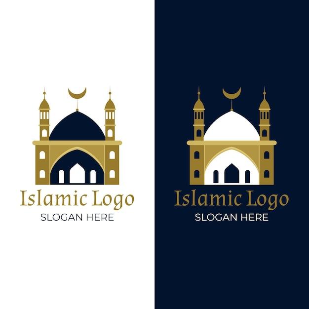 Colección de logotipos islámicos vector gratuito
