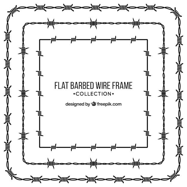 Colección de marcos de alambre de espina vector gratuito
