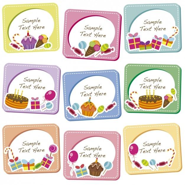 Colección De Marcos De Cumpleaños Descargar Vectores Gratis