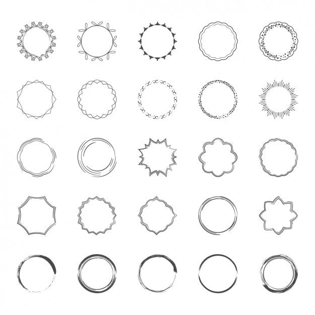 Colección de marcos decorativos vector gratuito