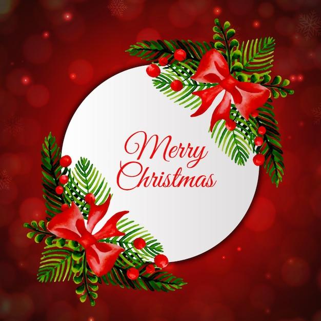 Coleccion De Marcos De Navidad En Acuarela Descargar Vectores Gratis
