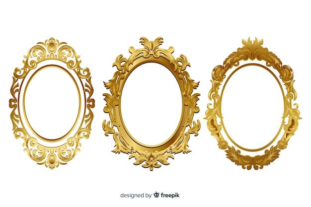 Colección de marcos ornamentales vintage Vector Premium