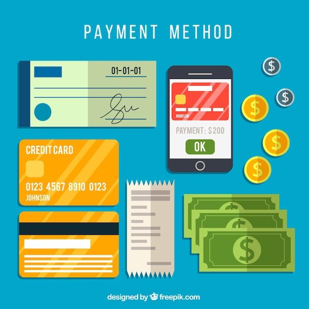 Colección de métodos de pago vector gratuito
