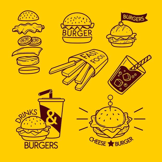 Colección mínima de elementos de logotipo vector gratuito