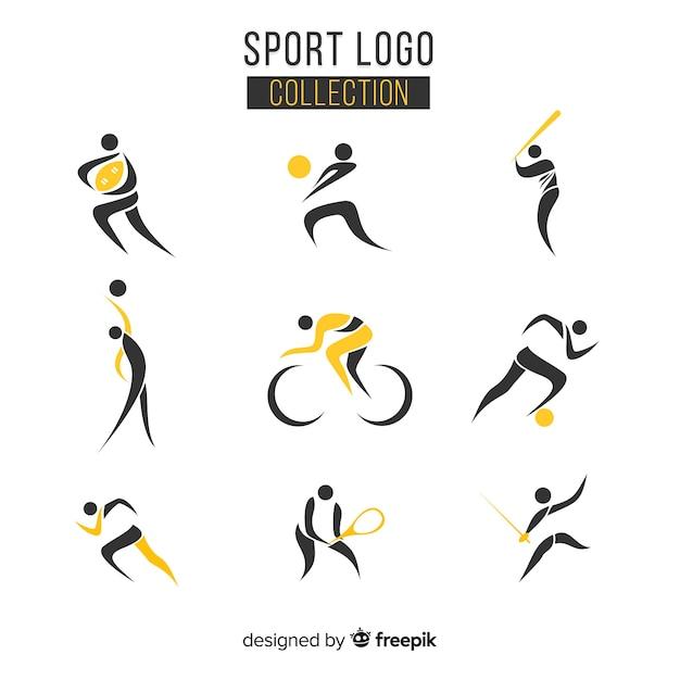 Colección moderna de logos de deporte vector gratuito