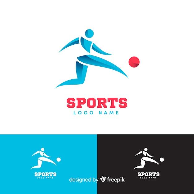 Colección moderna de logotipos de deporte vector gratuito