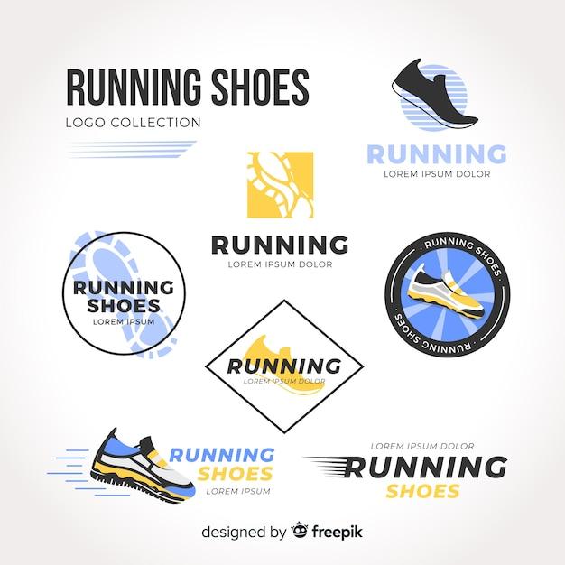Colección moderna de plantillas de logos de zapatos de deporte ... 656f6ddef5d6f