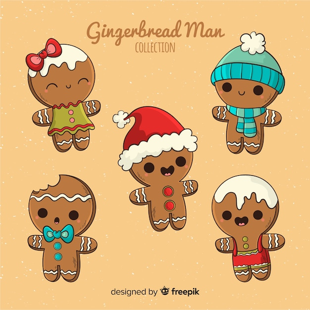 Imagenes De Galletas De Navidad Animadas.Coleccion Navidad Galletas Pan De Jengibre Dibujo Animado