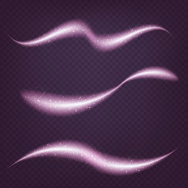 Colección de ondas de sombras violetas brillantes vector gratuito