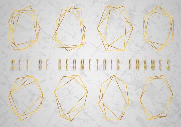 Colección de oro de poliedro geométrico Vector Premium