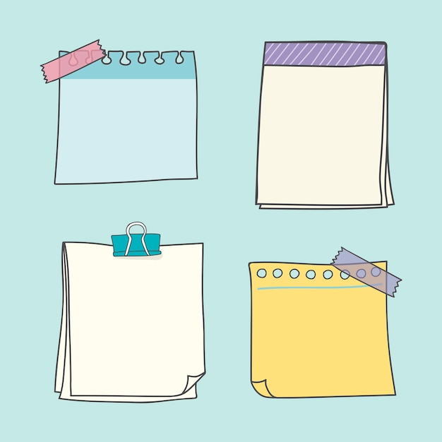 Colección de papel de colores vector gratuito